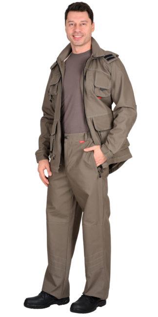 """Костюм """"Мичиган-2"""" куртка, брюки (тк. Canvas) темный песок"""