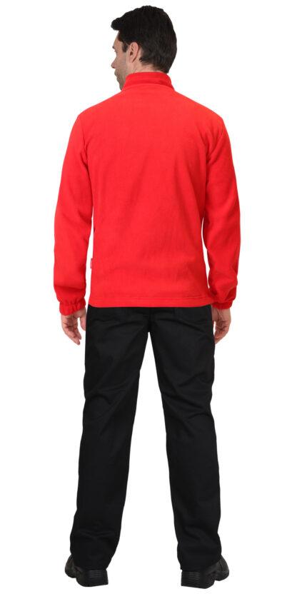 Куртка флисовая красная